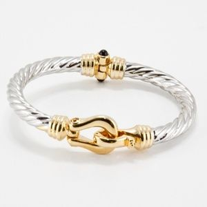 T&J Designs Jewelry - Stainless Horse Shoe Bangle-J062